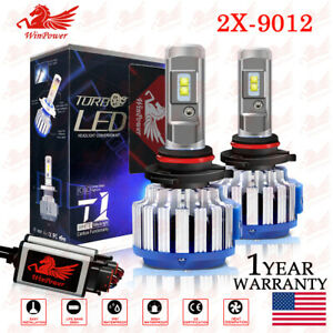 2x 9012 HIR2 LED Headlight Bulb Hi/Low Beam 70W 14400LM 6000K CANBUS Error Free