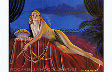 Pin Up Girl Poster 11x17 exotic flapper maiden dame art deco blonde treasure