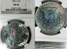 1880-S MS66 Morgan Silver Dollar $1, NGC Graded, Monster Toning & Luster! (DR)