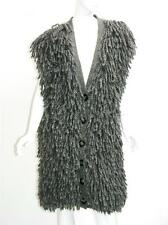 NEW $1295 STELLA MCCARTNEY WOOL ALPACA SUPER WARM COAT CARDIGAN GRAY 48 - 12/14