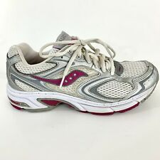 Saucony Grid Pride Womens Running Shoes 8.5 Gray Silver Magenta