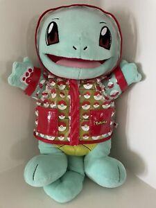 Build A Bear Pokémon Squirtle Plush Stuffed with Sound , Raincoat