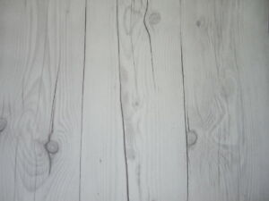 STICKY BACK SELF ADHESIVE TEXTURED VINTAGE WHITE WOOD PANEL VINYL SHEET ROLL