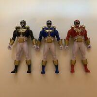 """Power Rangers Mega Force 6"""" Ultra Morphing Red / Blue / Black Rangers - Set of 3"""