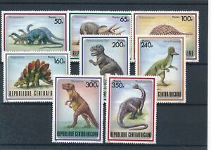[319717] Central Africa dinosaurs good set very fine MNH stamps