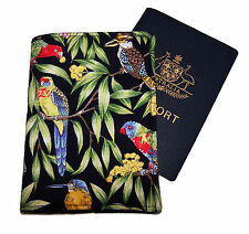 PASSPORT COVER/FOLDER/WALLET - NATIVE AUSTRALIAN BIRDS by Graggie Australia*GA