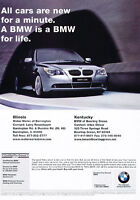 2008 BMW 530i - for life- Classic Vintage Advertisement Ad PE99