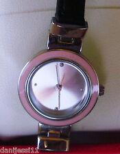 Reloj de mujer marca FMD Quartz, correa de piel color negro, japan movement