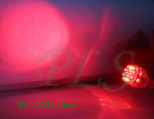 2x 7440 T20 Super Red 15 LED Back Up Reverse Lights Bulbs