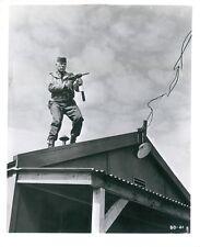 Lee Marvin original 8x10 photo on building with machine gun The Dirty Dozen