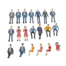 MagiDeal 20pcs Model Trains 1:30 Scale Painted Figures G Street People