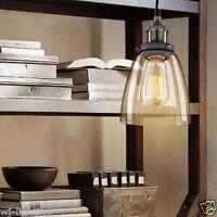 LED Glass Ceiling Light Vintage Retro Chandelier Pendant Edison Lamp Lighting