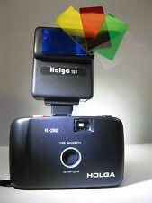 Holga 135 35mm Model K-280 Point and Shoot Film Camera with Holga 15B Flash NEW
