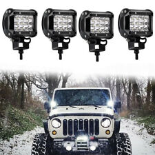 "4x18W 4"" Spot LED Cube Work Light Driving DRL Lamp Offroad FIT 4WD SUV UTE ATV"