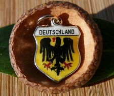 VINTAGE 835 SILVER enamel DEUTSCHLAND GERMANY shield CHARM (C-056)
