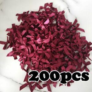 Fresh Pink Ribbon Bows Small Size Polyester Satin Ribbon Flower Craft Decoration