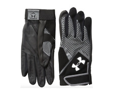 Under Armour Mens Ua Clean Up Vi Batting Gloves Md Black/Gray 1278213 001 Adult