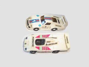 WHITE PORSCHE RACE MODEL CARS RACING SET 1991 1:87 KINDER SURPRISE MINIATURES