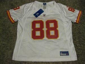 Tony Gonzalez Kansas City Chiefs Women's White XL 2008 Reebok Replica Jersey