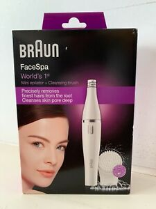 BNIB Braun FaceSpa 810 Facial Epilator and Facial Cleansing Brush