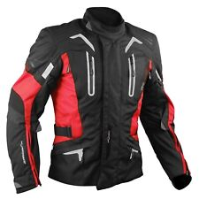 Motorbike Motorcycle CE Armours Warterproof Textile Jacket Thermal Red L