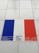 VINTAGE Francese Art Pubblicità Poster 1970 Stoccarda W R Hoffmann Siebdruck