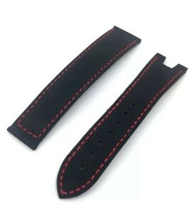 New Authentic OMEGA Seamaster 21mm Black Rubber Watch Band Strap No. 98000443