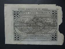 1618 BERTIUS  Atlas WORLD map  TYPUS ORBIS TERRARUM - Mappemonde  America  Asia