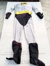 BATMAN Adult Costume Halloween LARGE Bodysuit Marvel Heroes Jumpsuit Muscles Men