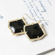 NEW $65 Kendra Scott Kirsten Gold Drop Earrings in Black