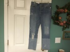 Women's 7 For All Mankind EDIE Crop Straight Leg Jeans Size 29 (CON38)