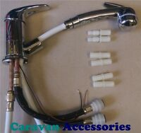 Pull Out Shower Tap Mixer Comet ROMA Microswitched - Caravan/ Motorhome/Boat