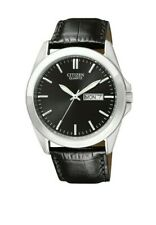 Citizen Men's BF0580-06E Quartz Silver-Tone Case Black Leather Band 40mm Watch