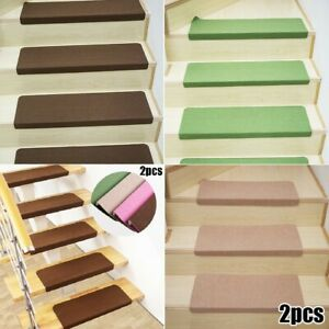 2x Outdoor Rubber Stair Tread Step Mat Non-Slip Floor Entryway Home Office Decor
