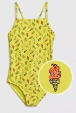 NEW NWT Gap Kids Girl's Yellow Ice Cream One Piece Swim Suit Size XL. Free Ship!