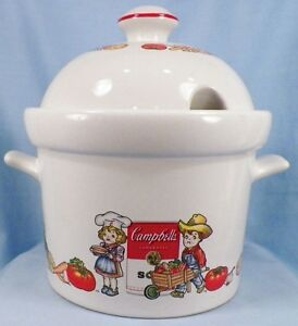 Adorable Campbells Soup Tureen 1996 Westwood Campbell Kids Tomatoes Wheelbarrow