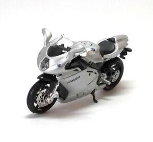 MV AGUSTA F4S 1+1 Silver - 1:18 Scale Die-Cast Motorbike Model by Burago - New
