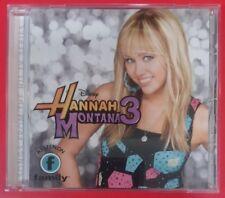 HANNAH MONTANA 3 Original TV Soundtrack by MILEY CYRUS (CD, 2009 - Disney) VGC!