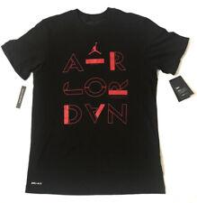 Nike Men's Air Jordan Classics T-Shirt Black/Gym Red AT8930-010 Size Small