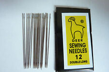 25 Iron Beading Needles Size 12 Sewing Seed 0.45mm Thick, 40mm Long, Hole 0.3mm
