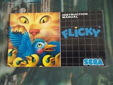 Flicky SEGA Mega Drive Genesis Manual instruction Booklet 1991 NO GAME!!