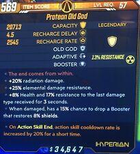 God Roll • Old God • ase 20% ACTION SKILL COOLDOWN •RADIATION•Xbox•Borderlands 3