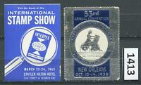 Dealer Dave Cinderella Stamps NICE PAIR OF INTERESTING SHOW LABELS, MH NG (1413)