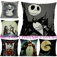 Nightmare Before Christmas Halloween Decor Ornament Cushion Cover Pillow Case