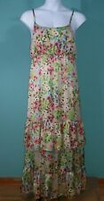 Old Navy Floral Boho Spaghetti Strap Teired Maxi Dress Large