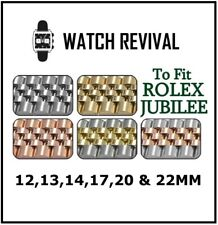 JUBILEE STYLE BRACELET FOR ROLEX 12,13,14,17,20 & 22MM WITH CURVED ENDLINKS