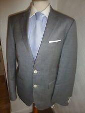 Para Hombre Hugo Boss Gris Birdseye el traje de Chaqueta Lana James Sharp 36 Cintura 30 pierna 32