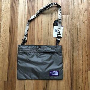 NWT Men's The North Face Purple Label Light Gray Tape Logo Shield Shoulder Bag