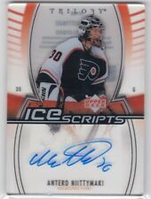 ANTERO NIITTYMAKI 2006-07 06-07 UPPER DECK TRILOGY ICE SCRIPTS AUTO FLYERS