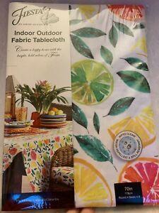 """Fiesta Fiestaware Citrus Bliss   Indoor / Outdoor 70"""" Round Tablecoth  New NIP"""